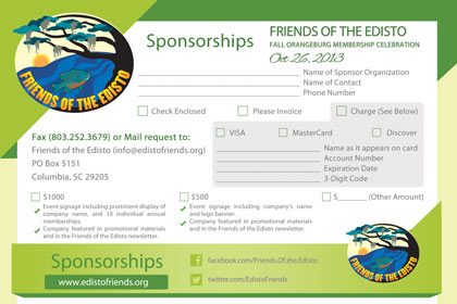 Post Card Design for Friends of the Edisto - Sponsorships