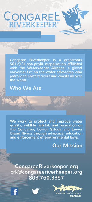 Congaree Riverkeeper rack card design front