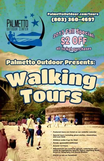 Palmetto Outdoor Walking Tours Flyer