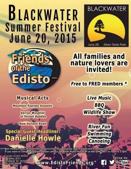 Friends of the Edisto Blackwater Summer Fesitval Flyer