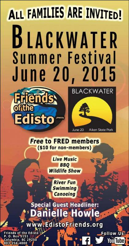 FRED Blackwater Summer Festival Newspaper Print Ad Design