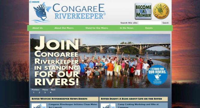 Congaree Riverkeeper website design