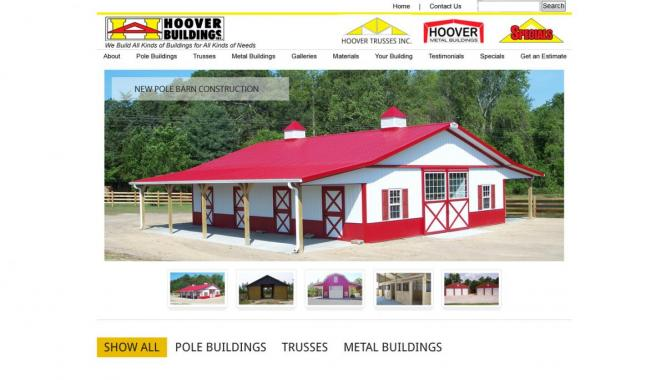 Hoover Buildings Website Design Home Page