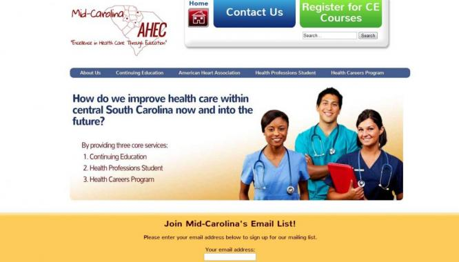 mid-carolina ahec web design