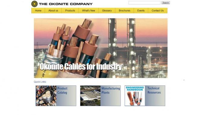 The Okonite Company website design