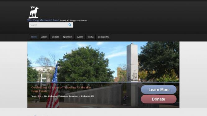 War Dog Memorial Fund Web design